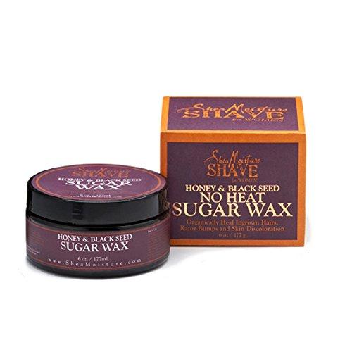 No Heat Body Sugar (Shea Moisture honey& black seed no heat sugar wax, 6 Ounce)