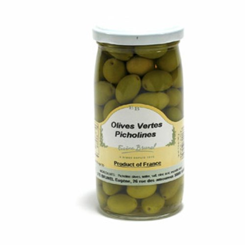 Brunel Green Picholine Olives, 7-Ounce Bottles (Pack of 12) by Brunel