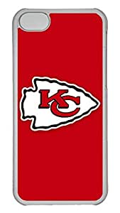 GOOD 5C Case, iPhone 5C Case, Personalized Hard PC Clear Shoockproof Protective Case Cover for New Apple iPhone 5C - Nfl Kansas City Chiefs