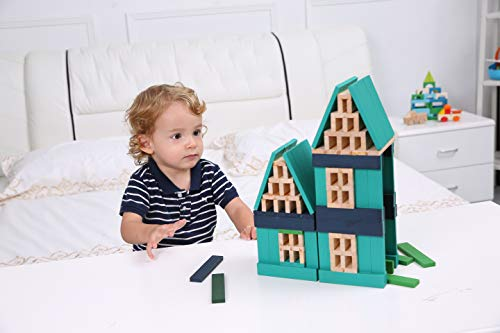 - LOOBANI Kids Toddlers Building Blocks Wooden Toys Set, Suitable for Boys & Girls Above 3 Years Old (150pcs Mix Colors)