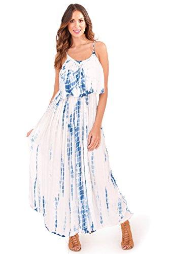 Pistachio - Vestido - Manga Larga - para mujer White - Blue
