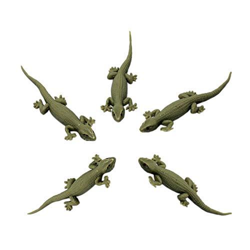 Tootpado House Gecko Rubber Lizard Toy – (Pack of 5) (1a000245)