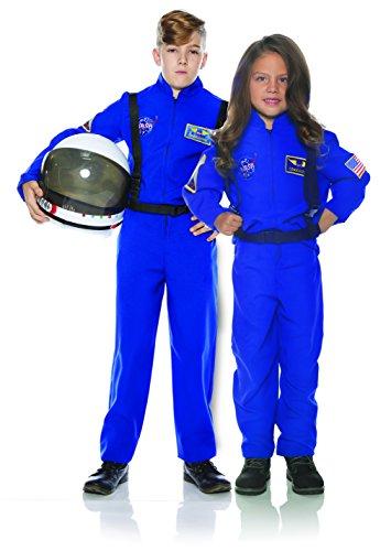 Underwraps Kid's Children's Astronaut Flight Suit Costume - Blue Childrens Costume, Blue, -