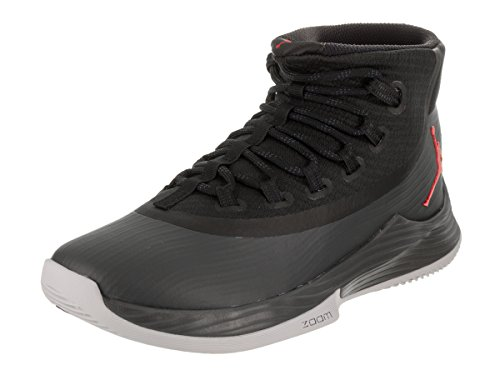 Jordan Nike Men's Ultra Fly 2 Black/Anthracite Red Basketball Shoe 8.5 Men US by Jordan