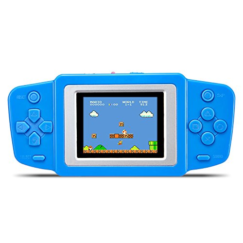"2.5"" LCD Handheld Portable Vedio Game Console Built-in 268 Classic Games Rechargable Li-polymer Battery or Dry Battery Best Gift for Kids (GM01025BlueUS)"
