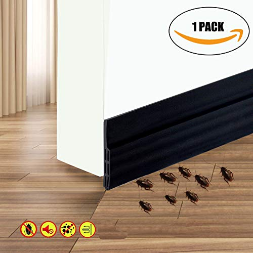 (Self Adhesive Door Sweep Draft Stopper - Camel Home Weather Stripping Rubber Under Door Bottom for Interior Doors Seal Strip Insulation for Weatherproof, Soundproof, 2