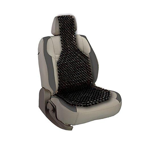 Car Custom Seat (Custom Autos Black Wooden Beaded Cushion Car Seat Cover)