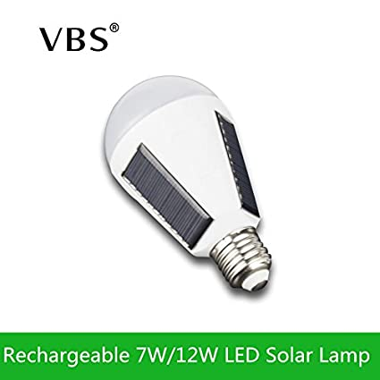 Amazon.com: Cool White, 7W : Rechargeable E27 LED Panel Solar Lamp Intelligent 7W 12W Energy Saving Lampara AC85-265 Bombillas IP65 Camping Tent Lighting: ...