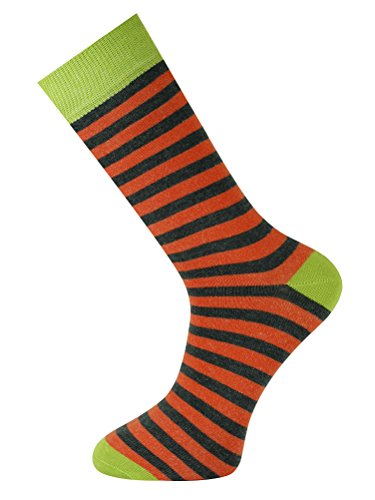 Mysocks Unisex Ankle Socks Stripe Orange and Anthracite