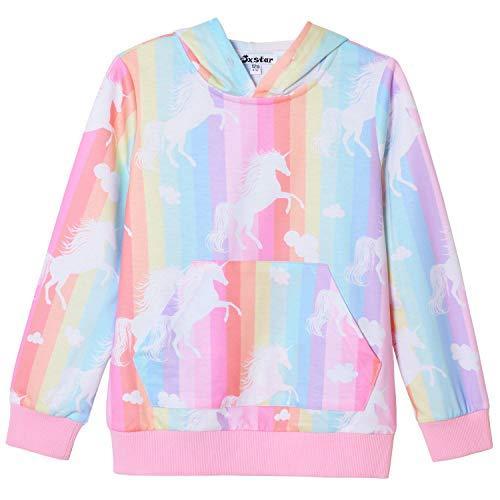 Hoodie for Big Girls 3D Unicorn Sweatshirt Long Sleeve Cotton Shirt Outfits Kids ()