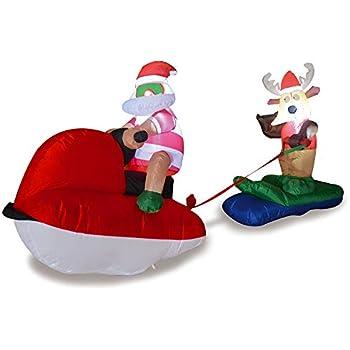 Amazon Com Airblown Animated Santa Dancing Hula Christmas Yard