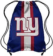 Forever Collectibles NFL New York Giants Team Stripe Drawstring Backpack BagTeam Stripe Drawstring Backpack Ba
