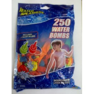 Water Bomb Balloons 250-Count (Pack of 6)