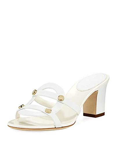 7f280d238958 Image Unavailable. Image not available for. Color  JIMMY CHOO Damaris  Leather Slide Sandals Shoes ...