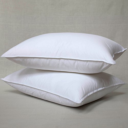 [Elliz White Goose Feather and Down Pillow, King, Set of 2] (Goose Down Feather Pillow Insert)