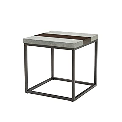 """Artum Hill Rockwell End Table, Merlot - The Rockwell end table brings an industrial look that is softened by rich, dark wood Dimensions: 24"""" Length, 24"""" Width, and 24"""" Height Makes everyday life a little bit easier with features like floor protectors - living-room-furniture, living-room, end-tables - 41btKqszxbL. SS400  -"""