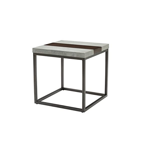 "Artum Hill Rockwell End Table, Merlot - The Rockwell end table brings an industrial look that is softened by rich, dark wood Dimensions: 24"" Length, 24"" Width, and 24"" Height Makes everyday life a little bit easier with features like floor protectors - living-room-furniture, living-room, end-tables - 41btKqszxbL. SS570  -"