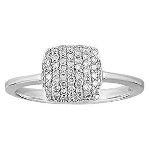 eternal Jewels Ladies 18K White Gold Fashion Ring