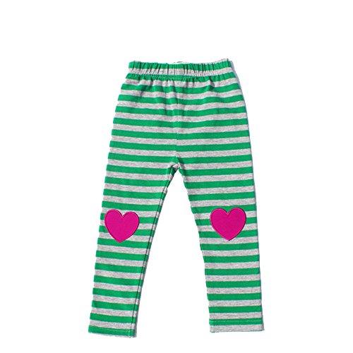 Children Full Length Pants Baby Trousers Pattern Heart Striped Girls Leggings (2T) (Embroidered Dot Capri Pant)