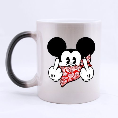 Ceramic Morphing Mug   Mickey Mouse Custom Heat Color Changing Mug Magic Coffee Tea Mug  11 Oz  Best Gifts For Christmas New Years Birthday Festival And Yourself