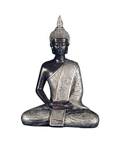 Ten Waterloo 8 inches Tall Thai Buddha Statue, Meditating Peace Harmony ()