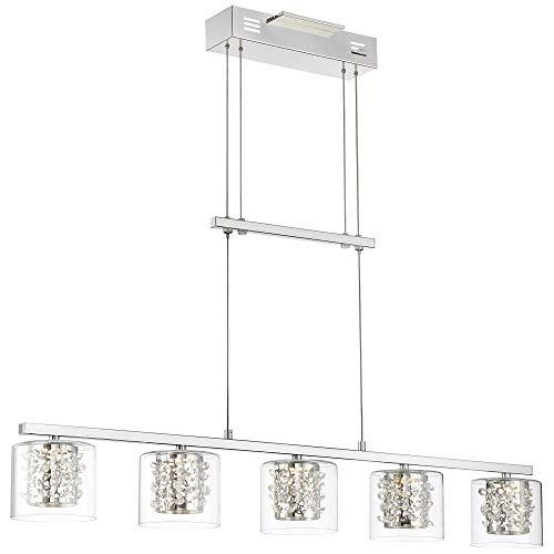 Possini Euro Dalton 37 1/2''W Chrome 5-LED Island Chandelier - Possini Euro Design by Possini Euro Design (Image #1)
