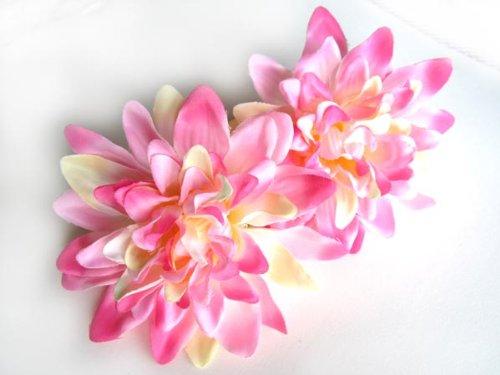 4-Pink-Silk-Dahlia-Flower-Heads-4-Artificial-Flowers-Dahlias-Head-Fabric-Floral-Supplies-Wholesale-Lot-for-Wedding-Flowers-Accessories-Make-Bridal-Hair-Clips-Headbands-Dress