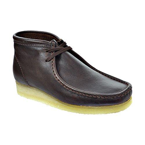 CLARKS Wallabee Men's Boots Brown Leat 26103668 (11.5 D(M) ()