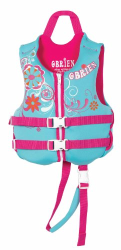 O'Brien Child Neoprene Life Vest (Light Blue/Pink, 30-50 - Pound)