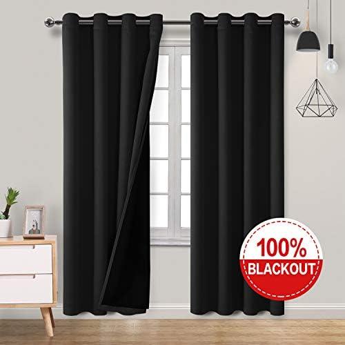 Best window curtain panel: Hiasan Double Layer 100 Blackout Curtains