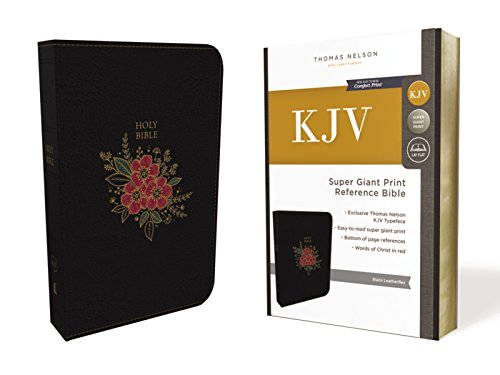 KJV, Deluxe Reference Bible, Super Giant Print, Leathersoft, Black, Thumb Indexed, Red Letter Edition, Comfort Print: Holy Bible, King James Version ()