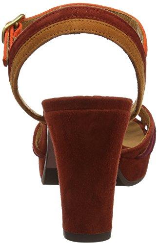 Chie Mihara Emai, Sandali con Cinturino Alla Caviglia Donna Multicolour (Ante Brick-ante Biscuit-ante Russo)