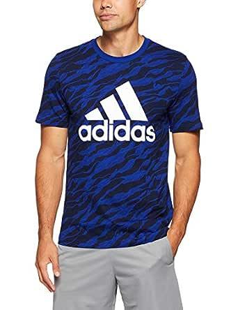 adidas Men's CZ9082 Essetnials AOP T-Shirt, Mystery Ink, M