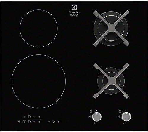Electrolux - Placa Mixta a Gas e Inducción con 4 zonas - Modelo egd6576nok - Negro