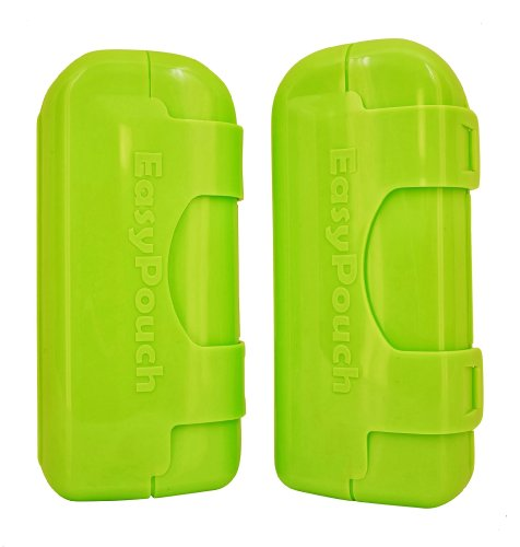 Box Green Helper - EasyPouch Independence - The No Squeeze, No Mess, self feeding utensil for baby food pouches. [2 Pack]