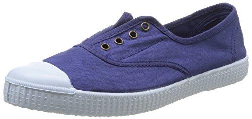 Victoria Ingles Elastico Tenido Punt, Zapatillas Altas para Mujer Azul (Tinta)