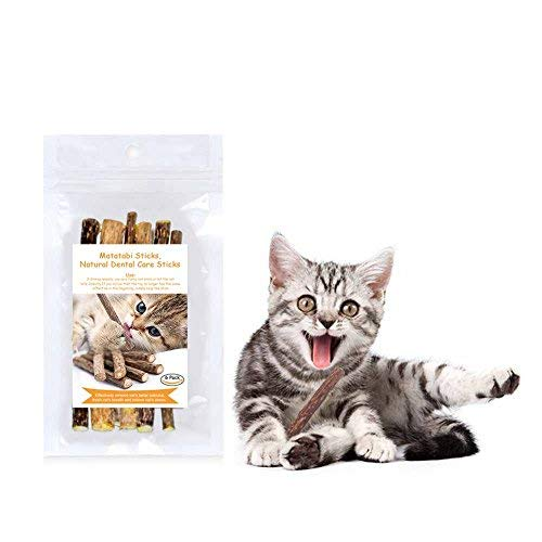 Natural Matatabi Catnip Sticks for Cat Teeth Grinding Chew Toy, Organic Silver Vine Helpful Promote Exercise and Gastrointestinal Motility