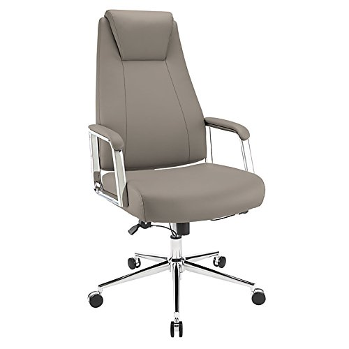 Realspace Sloane Series Bonded-Leather High-Back Chair, - Bonded Series Leather