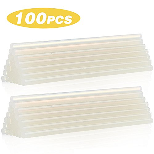 HXYTECH 100pcs Hot Melt Glue Stick Adhesive Stick, 7mm Diameter 100mm Length