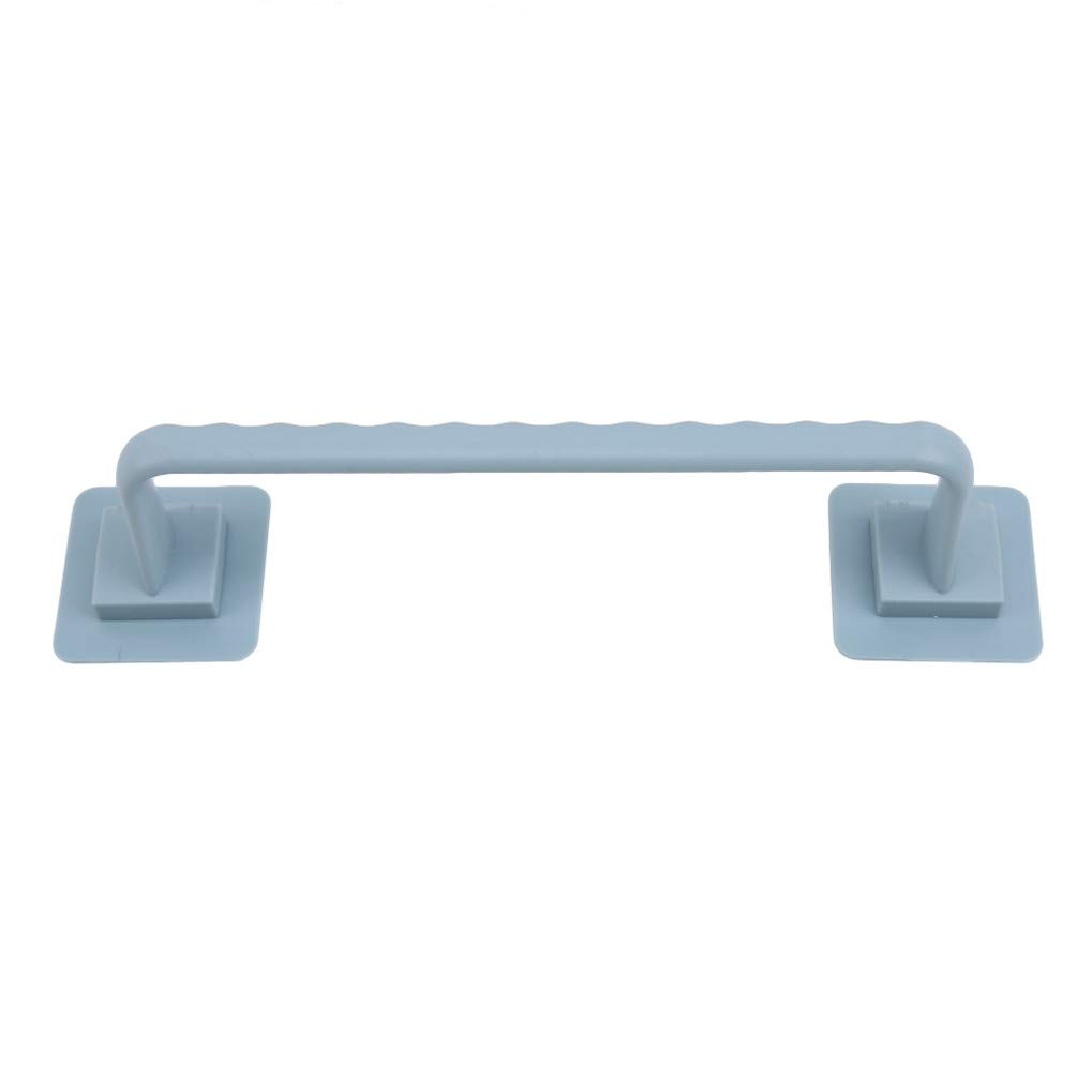 Eleusine Self Adhesive Towel Bar Towel Stick on the Wall Bathroom Towel Rack Kitchen Bathroom Blue