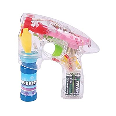 STS Light Up Bubble Blower LED Gun: Toys & Games