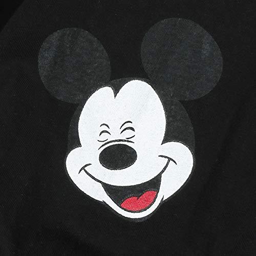 sized Disney Neck Crew Black Cotton Printed Mickey Ililily Pullover Dress X Over RnCqwn485