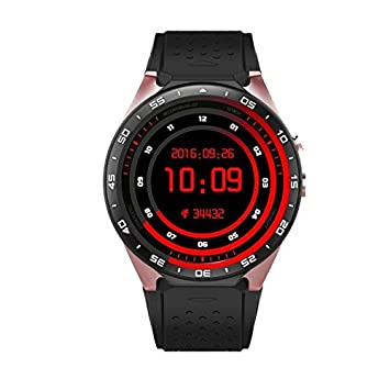 Montre Téléphone Connectée Sport iPhone Android Smartwatch WIFI 4 Go GPS Or Rose