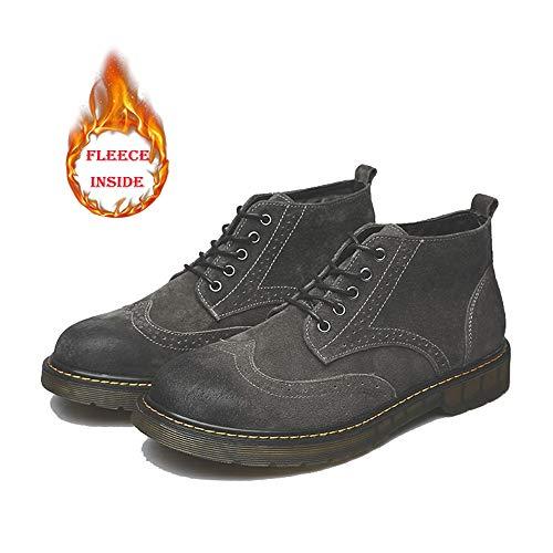 retrò retrò retrò Moda Moda Moda Moda alla Velluto shoes Gray Opzionale per Stivali Comodi e Libero Dark Uomo EU Warm Tempo Stivaletti Warm Color Gray Warm Dimensione indossabili Xiazhi Il 37 da Dark dxw0tEaaq