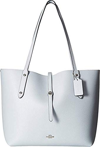COACH Women's Polished Pebbled Leather Market Tote Sv/Sky One Size ()