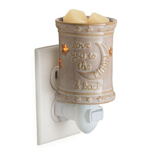 CANDLE WARMERS ETC Pluggable Fragrance Warmer- Decorative Plug-in for Warming Scented Candle Wax Melts and Tarts or Essential Oils, Love You to The Moon ()