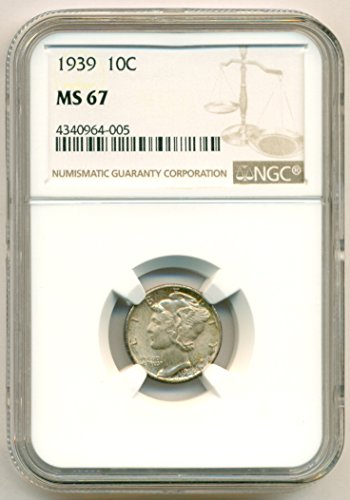 1939 Mercury Dime MS67 NGC