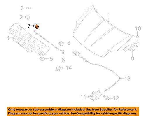(2004-2012 Nissan Quest Sentra Hood Prop Rod Anchor Clip Grommet OEM NEW Genuine 65773-5Z010)