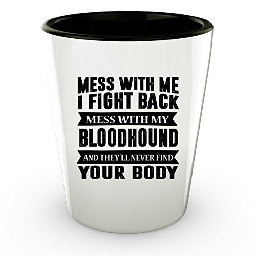 BLOODHOUND Shot Glass - Good for Gifts - Unique Coffee Cup Decal Gang Shirt Dog Collar (Victoria Justice Halloween Costume 2017)