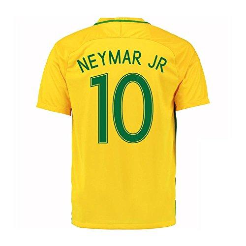 Neymar Jr #10 Brazil Home Soccer Jersey Rio 2016 Olympics (M)